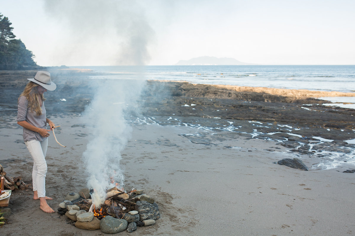 Wild delicious Gallery image cooking over fire at the beach