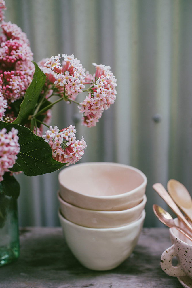 WIld delicious Gallery image table settings flowers and bowls