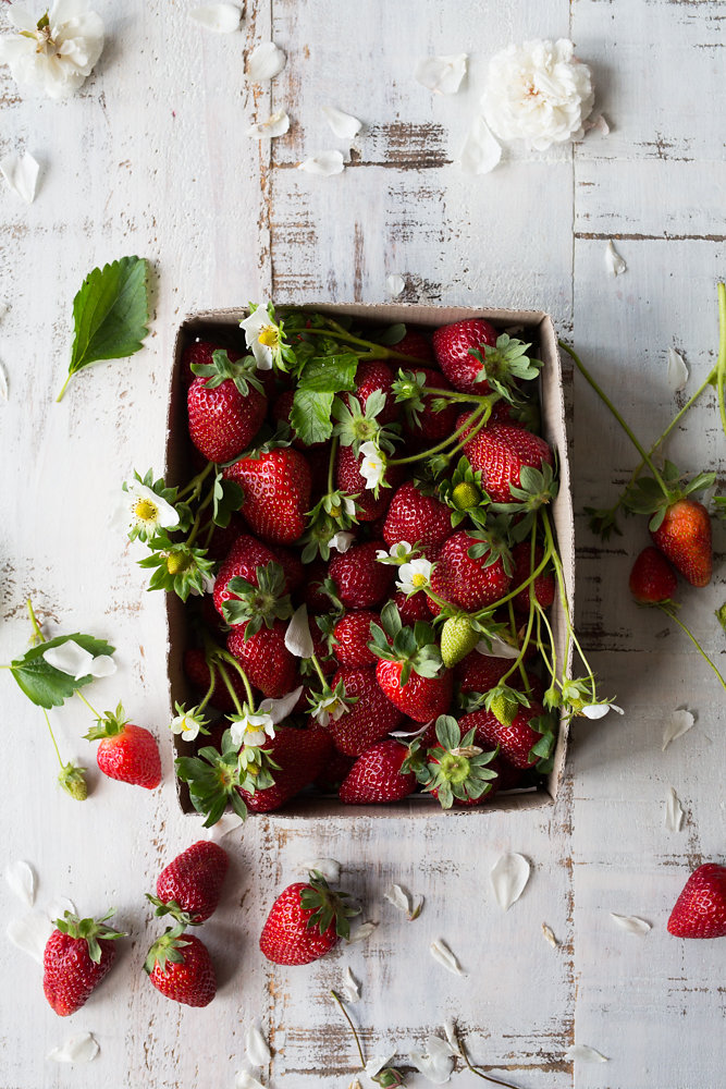 Wild delicious Gallery image box of foraged wild strawberries