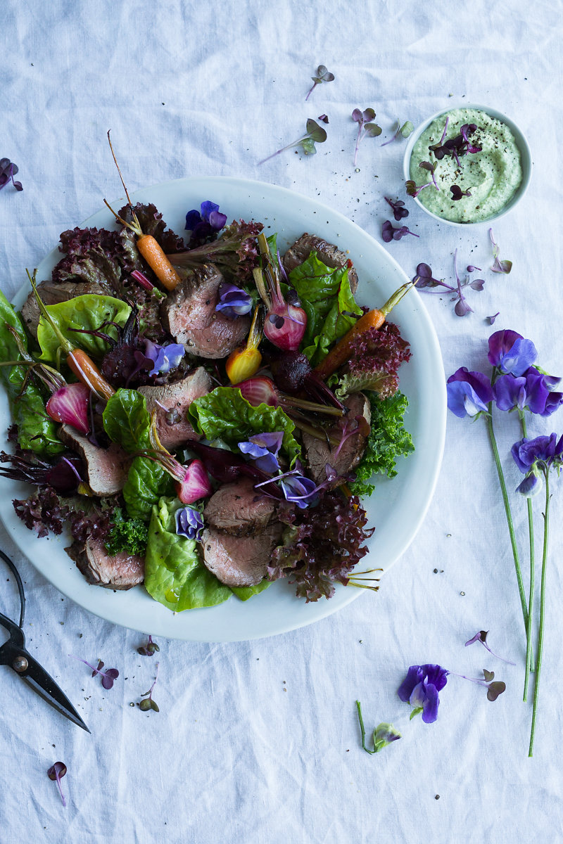 Wild delicious Gallery image foraged lunch salad leaves in bowl