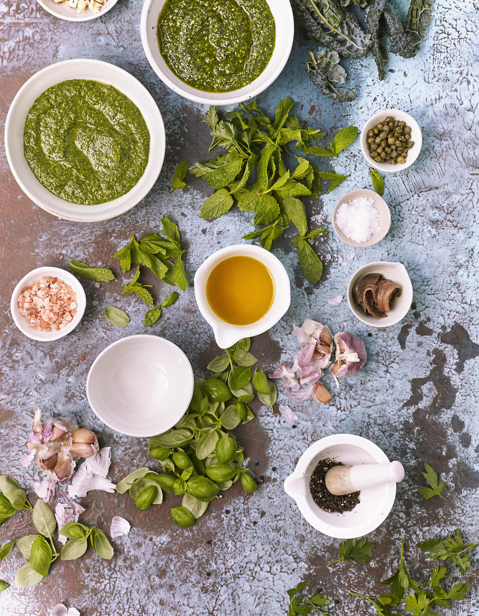 Wild delicious the wholefood pantry Gallery image variations on pesto and salsa verde
