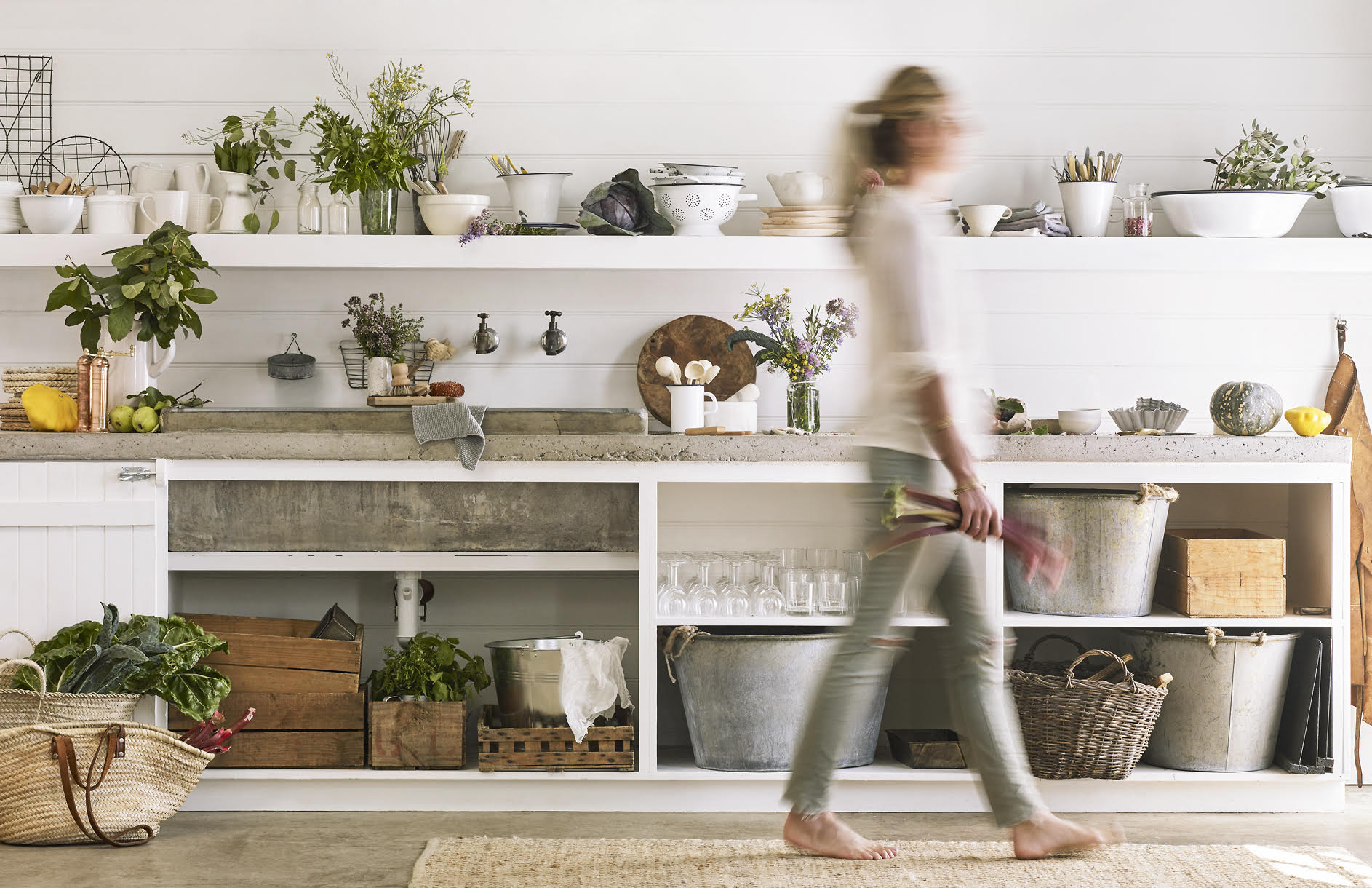 WIld delicious Gallery image beautiful kitchen with Amber walking through