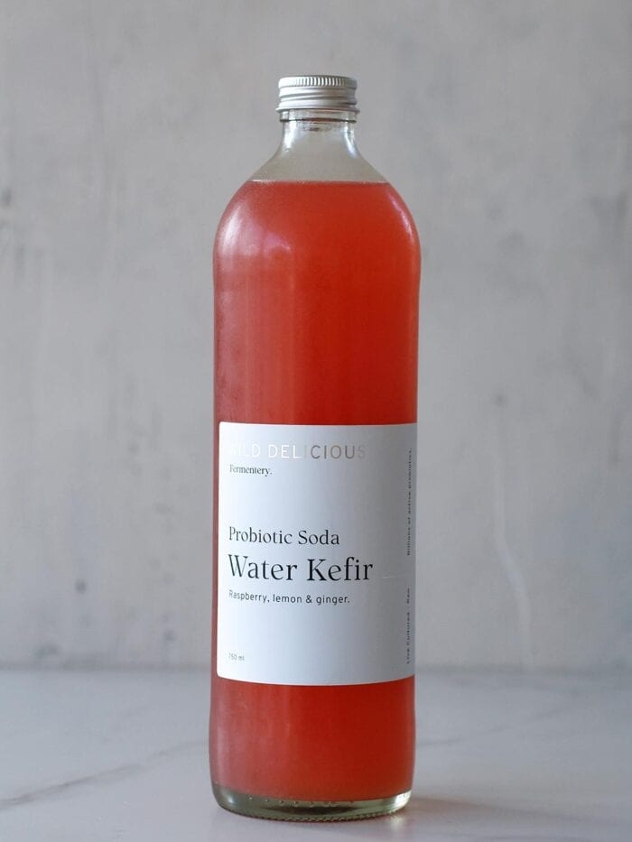 Raspberry, Lemon and Ginger Water kefir